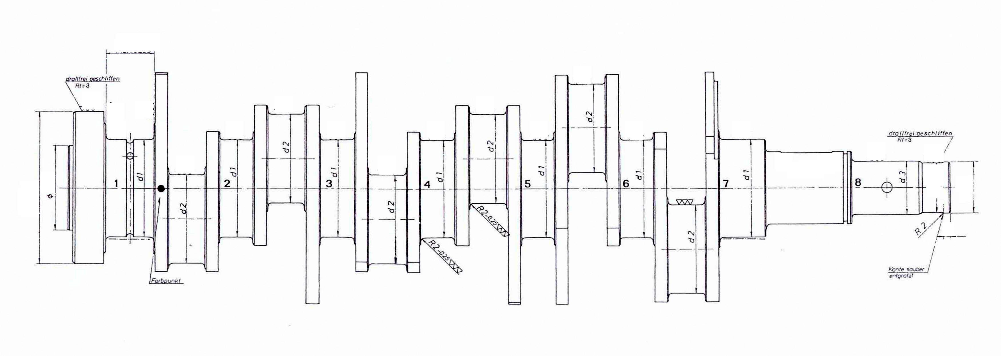 Kurbelwelle für Maserati 6 Zylinder Reihe